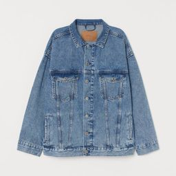 H & M - Oversized Denim Jacket - Blue   H&M (US)