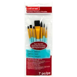 Black Taklon Wash Variety Brushes Super Value Pack By Craft Smart® | Michaels Stores