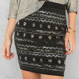 Roxie Beaded Skirt   Francesca's Collections