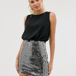Girl In Mind sequin skirt dress-Black   ASOS (Global)