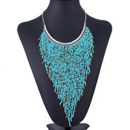 Waterfall Bohemian Beads Necklace   Walmart (US)