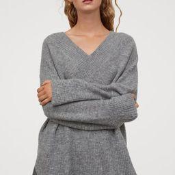 V-neck Wool-blend Sweater   H&M (US)