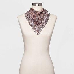 Women's Floral Print Bandana - Universal Thread™ Purple   Target