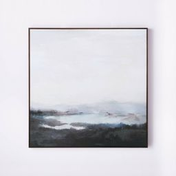 """36"""" x 36"""" Dreary Abstract Landscape Framed Wall Canvas - Threshold™ designed with Studio McGee   Target"""
