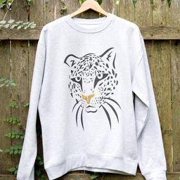 Love Fashion Leopard Graphic Sweatshirt | Etsy (US)