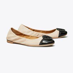 Minnie Patent Cap-Toe Ballet Flat   Tory Burch (US)
