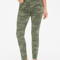 High Rise True Skinny Ankle Jeans in Camo with Secret Smoothing Pockets | Gap (US)