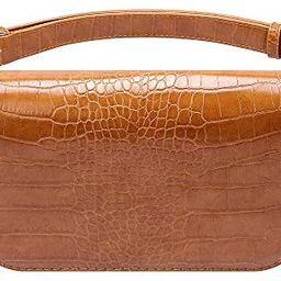 Badiya Women's Mini Waist Bag Fanny Packs Crocodile Leather Cell Phone Pocket (A New-brown) | Amazon (US)