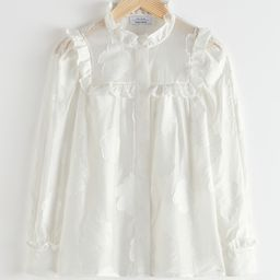 DESIGNED IN PARIS       Jacquard Frill Blouse                  £69                   W... | & Other Stories