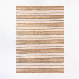 7'x10' Riverton Hand Woven Striped Area Rug Tan - Threshold designed with Studio McGee   Target