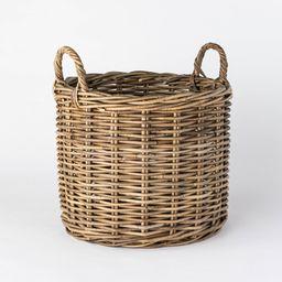 "Decorative Round Kooboo Rattan Basket 16"""" x 14"""" Gray - Threshold designed with Studio McGee   Target"