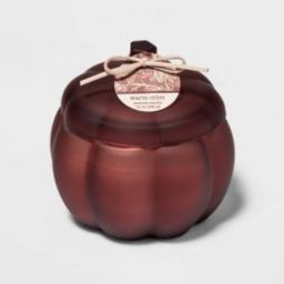 12oz Lidded Frosted Glass Pumpkin Jar 2-Wick Warm Cider Candle - Threshold™ | Target