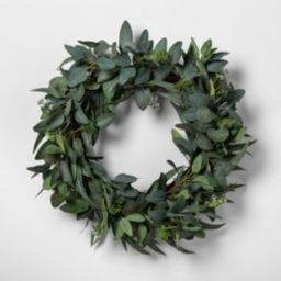 """24"""" Faux Seeded Eucalyptus Wreath - Hearth & Hand™ with Magnolia 