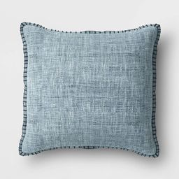 Oversized Square Textured Pillow with Blanket Stitch Edge - Threshold™ | Target