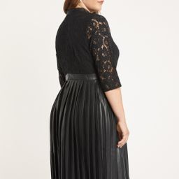 Faux Leather and Lace Dress | Eloquii
