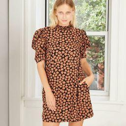Women's Puff Short Sleeve Ruffle Dress - Who What Wear™ | Target