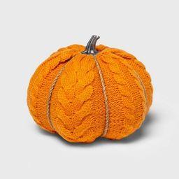 Medium Cable Knit Soft Fabric Harvest Pumpkin - Spritz™ | Target
