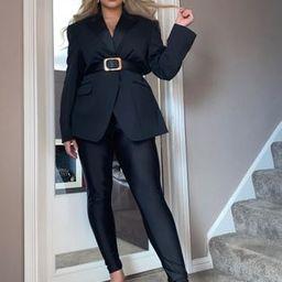 Fashionkilla Plus disco legging in black | ASOS (Global)