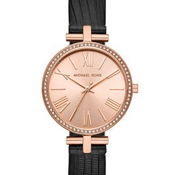 Women's Maci Black Leather Strap Watch 34mm, Created for Macy's   Macys (US)