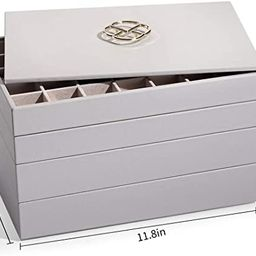 Vlando Miller Stackable Jewelry Organizer Tray with Lid, 35 Slot Classic Jewelry Holder Storage D... | Amazon (US)