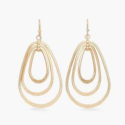 Gold-Tone Circlet Drop-Hoop Earrings | Chico's