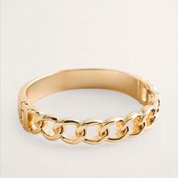 Goldtone Chain-link Hinge Bangle   Chico's