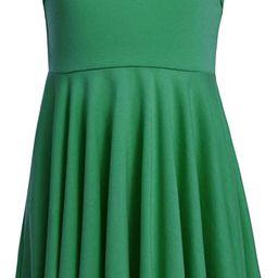 Arshiner Girls Tank Casual Dress Sleeveless Plain Summer Dress Skater A-line Twirly Dress | Amazon (US)