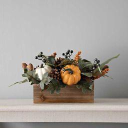 Orange and Navy Pumpkin Berry Floral Arrangement | Kirkland's Home