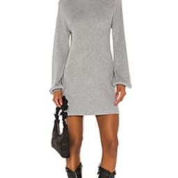 Song of Style Erin Sweater Dress in Grey from Revolve.com | Revolve Clothing (Global)