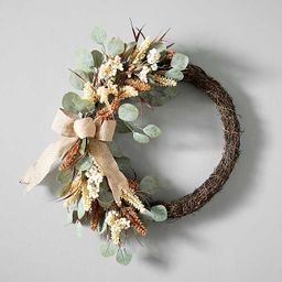 New!Eucalyptus Heather Mix Burlap Bow Wreath | Kirkland's Home