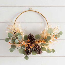 Pine Cone and Berries Hoop Wreath | Kirkland's Home