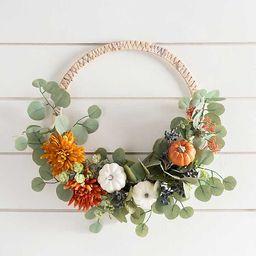 Eucalyptus and Pumpkin Hoop Wreath | Kirkland's Home