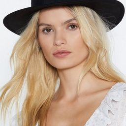 Black Hat with Wide Brim and Flat Top | NastyGal (US & CA)