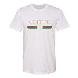 Monogrammed 'Coffee Designer Dupe' Premium T-Shirt | United Monograms
