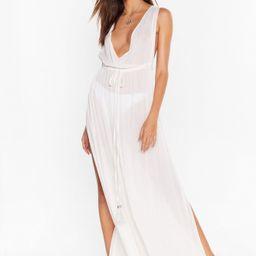 Plunging V-Neckline Cover-Up Maxi Dress | NastyGal (US & CA)