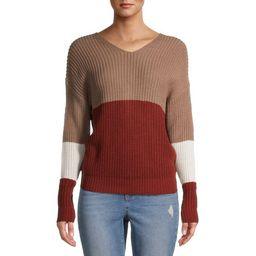 No Boundaries Juniors' Twisted Colorblocked Sweater   Walmart (US)