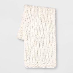 Chunky Knit Throw Cream - Threshold   Target
