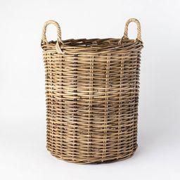 "Decorative Round Kooboo Rattan Basket 23.2"""" x 17.7"""" Gray - Threshold designed with Studio McGee   Target"