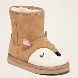 Faux-Suede Deer-Critter Boots for Toddler Girls | Old Navy (US)