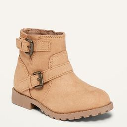 Faux-Suede Buckled Moto Boots for Toddler Girls | Old Navy (US)