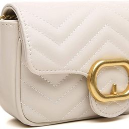 CrossLandy Quilted Crossbody Bag for Women Purse with Chain Strap Shoulder Handbags | Amazon (US)