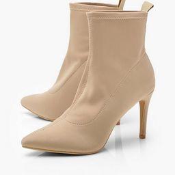 Pointed Stiletto Sock Boots | Boohoo.com (US & CA)