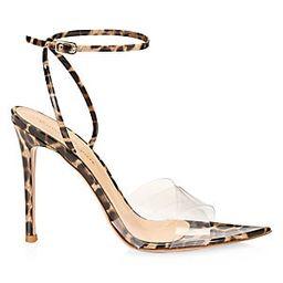 Stark Leopard-Print Leather & PVC Sandals | Saks Fifth Avenue