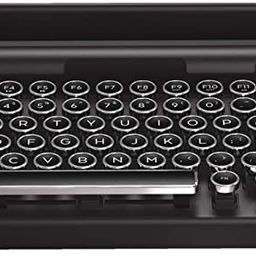 Qwerkywriter S Typewriter Inspired Retro Mechanical Wired & Wireless Keyboard with Tablet Stand | Amazon (US)