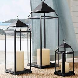 Malta Glass & Metal Lantern Collection   Pottery Barn (US)