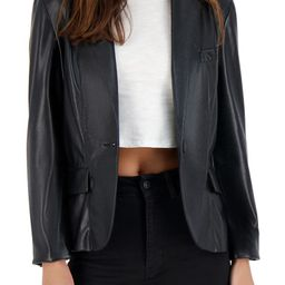 Serious or Not Faux Leather Blazer | Nordstrom