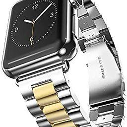 U191U Band Compatible with Apple Watch 38mm 42mm Stainless Steel Wristband Metal Buckle Clasp iWa... | Amazon (US)