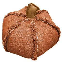 Bee & Willow™ Home Autumn Pumpkin-Shaped Round Throw Pillow | Bed Bath & Beyond