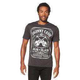 Men's Johnny Cash Man In Black Short Sleeve Graphic T-Shirt - Charcoal Heather   Target
