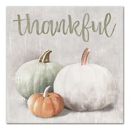 """Designs Direct """"Thankful"""" 16-Inch Square Canvas Wall Art 